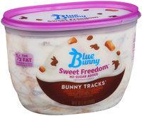 Blue Bunny™ Sweet Freedom® No Sugar Added Bunny Tracks® 48 fl. oz. Tub