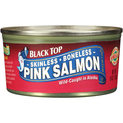Black Top® Skinless Boneless Pink Salmon 6 oz. Can