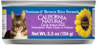 California Natural® Venison & Brown Rice Formula Wet Cat & Kitten Food 5.5 oz . Can