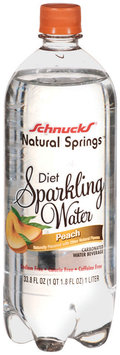 Schnucks Natural Springs Diet Sparkling Water Peach