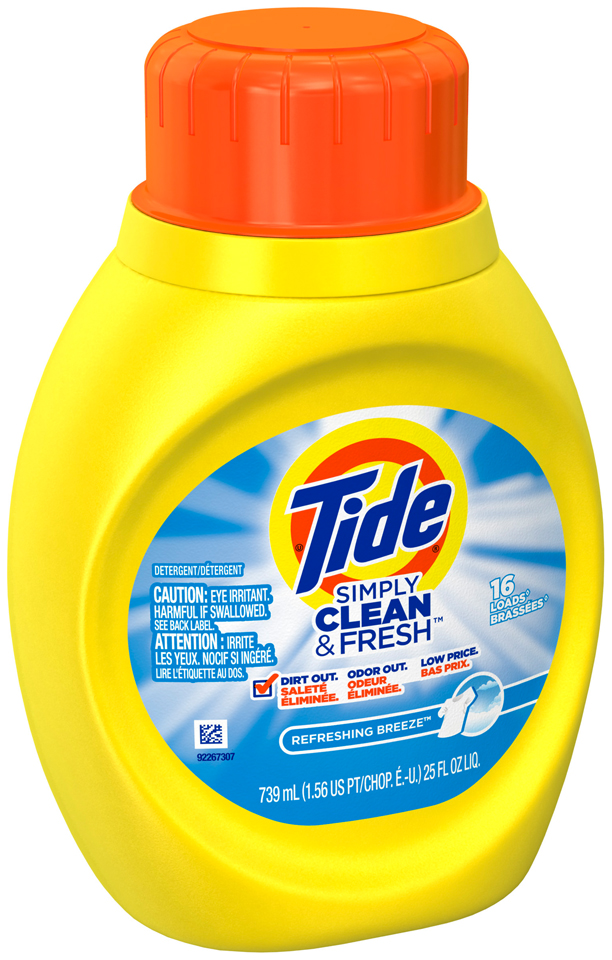 Tide Simply Clean and Fresh Refreshing Breeze Scent Laundry Liquid Detergent 16 loads 25 Fl Oz