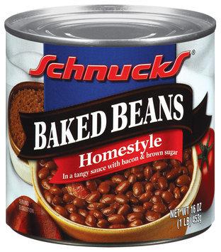 Schnucks Baked Homestyle Beans 1 Lb Can