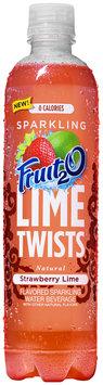 Fruit 2 O® Lime Twists Natural Strawberry Lime Sparkling Water Beverage 17 fl. oz. Bottle