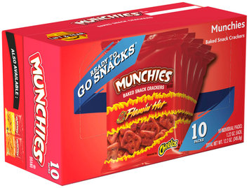 Munchies® Brand Flamin' Hot Baked Snack Crackers 10 ct Box
