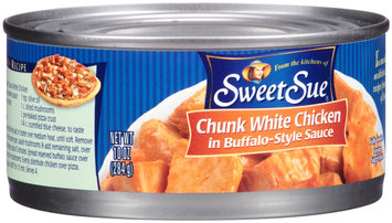Sweet Sue® Chunk White Chicken in Buffalo-Style Sauce 10 oz. Can