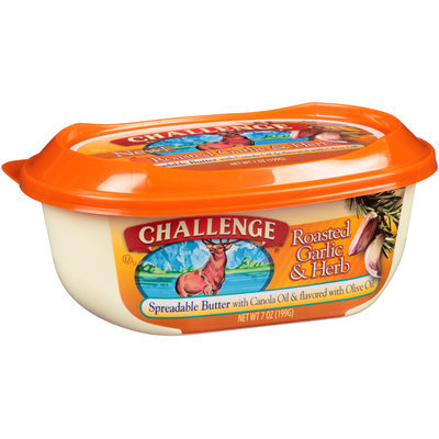Challenge® Roasted Garlic & Herb Spreadable Butter 7 oz. Tub