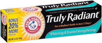 Arm & Hammer™ Truly Radiant™ Whitening & Enamel Strengthening Fresh Mint Flavor Toothpaste 5.2 oz. Box