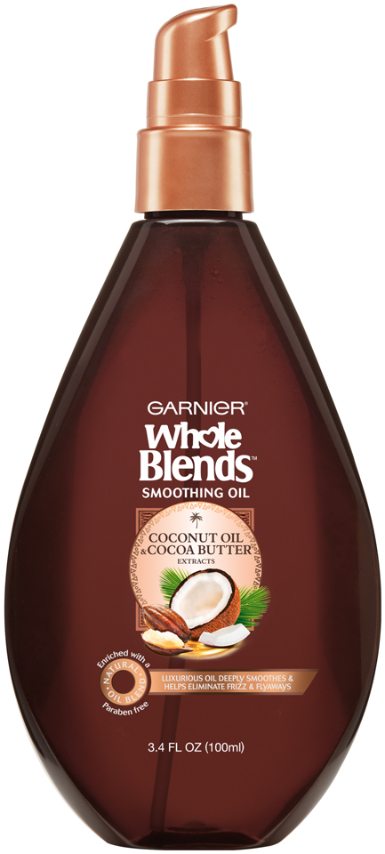 Garnier® Whole Blends™ Coconut Oil & Cocoa Butter Extracts Smoothing Oil 3.4 fl. oz. Pump