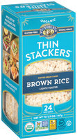 Lundberg® Organic Thin Stackers™ Brown Rice Lightly Salted Puffed Grain Cakes 24 ct Box