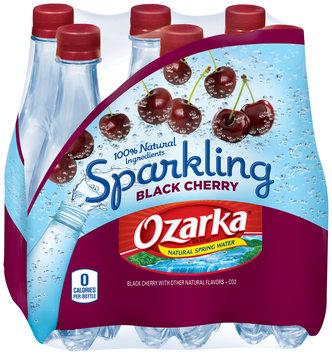 Ozarka® Sparkling Black Cherry Natural Spring Water