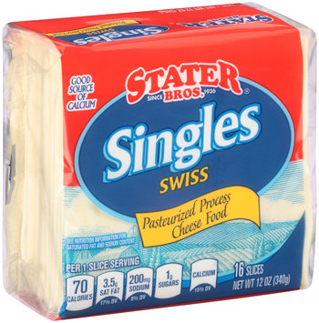 Stater Bros.® Swiss Cheese Singles 12 oz. Wrapper