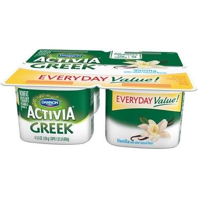 Dannon® Activia® Vanilla Nonfat Greek Yogurt 5.3 oz. 4 pk. Cups