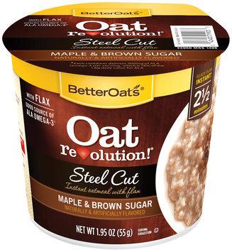 BetterOats® Oat Revolution!® Steel Cut Maple & Brown Sugar Instant Oatmeal