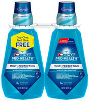Crest Pro-Health Multi-Protection Refreshing Clean Mint Rinse 500mL Twin Pack Bottle