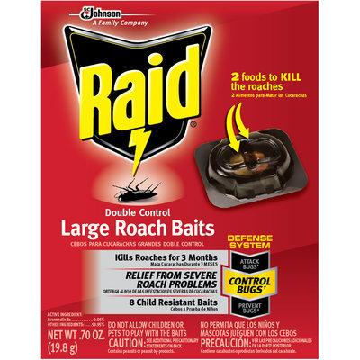 Raid® Double Control Large Roach Baits 8 ct Box