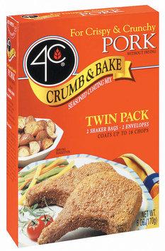 4C Crumb & Bake-Pork Twin Pack Coating 6 Oz Box