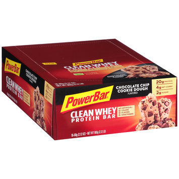 PowerBar® Clean Whey Chocolate Chip Cookie Dough Flavored Protein Bar 16-2.12 oz. Bars
