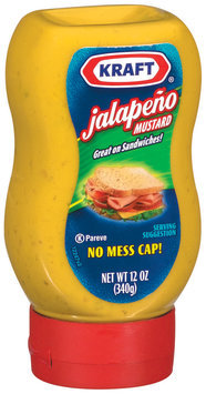 Kraft Mustard Jalapeno Mustard 12 Oz Squeeze Bottle