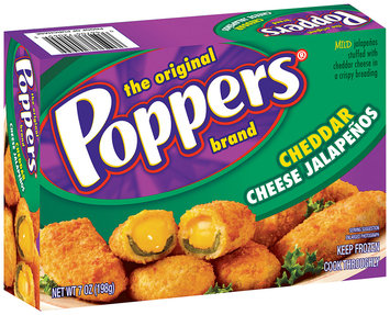 Poppers® Cheddar Cheese Stuffed Jalapenos 7 oz. Box