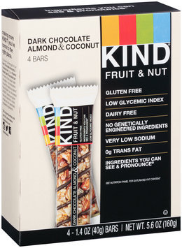 KIND® Fruit & Nut Dark Chocolate Almond & Coconut Bar 4 - 1.4 oz. ct Box