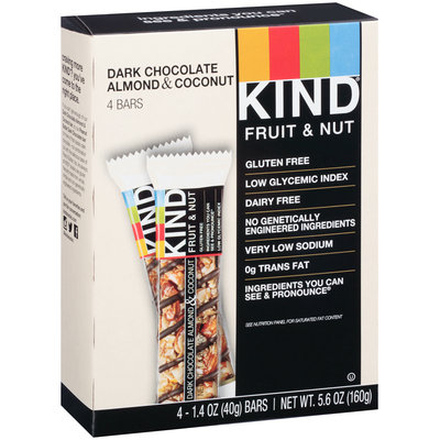 KIND® Fruit & Nut Dark Chocolate Almond & Coconut Bar 4 - 1.4 oz. ct Box