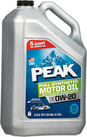 Peak® SAE 0W-20 Full Synthetic Motor Oil 5 qt. Jug