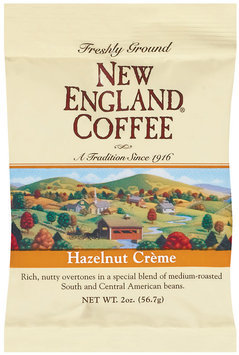 New England Coffee Freshly Ground 100% Arabica Coffee Hazelnut Creme 2 Oz Bag