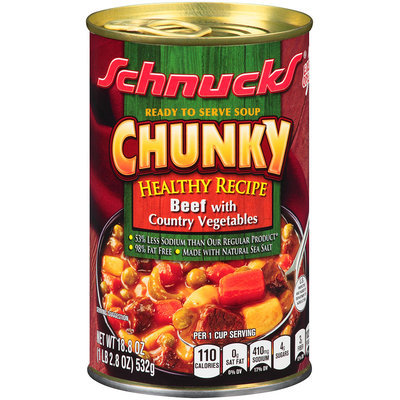 Schnucks® Ready to Serve Chunky Healthy Recipe Beef with Country Vegetables Soup 18.8 oz. Can