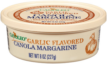 Canoleo® Garlic Flavored Canola Margarine 8 oz. Tub