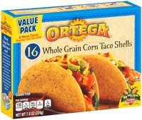 Ortega® Whole Grain Corn Taco Shells 7.8 oz-16 ct. Box