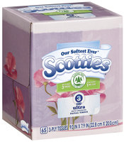 Scotties Ultra White Unscented 3 Ply Facial Tissue 65 Ct Box