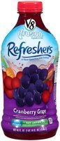 V8® V-Fusion® Fruit Juice Drink Refreshers Cranberry Grape 46 fl. oz. Plastic Bottle