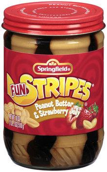 Springfield Peanut Butter W/Strawberry Jelly Fun Stripes 18 Oz Jar