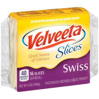 Velveeta Slices Swiss Cheese 16 ct Pack