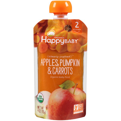 Happy Baby® Organics Apples, Pumpkin & Carrots Baby Food 3.5 oz. Pouch