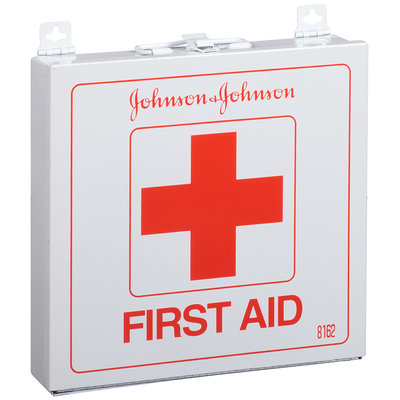Johnson & Johnson First Aid Kit for Up to 50 People Metal Container