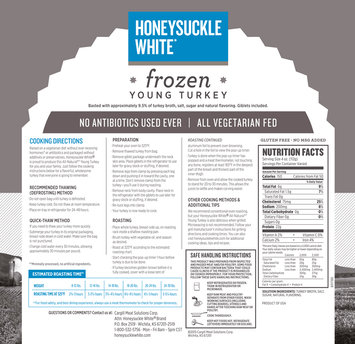 Honeysuckle White® Frozen Young Turkey Pack