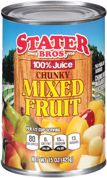 Stater Bros.® 100% Juice Chunky Mixed Fruit 15 oz. Can