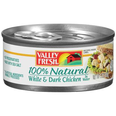 Valley Fresh® 100% Natural White & Dark Chicken in Water 5 oz. Can.