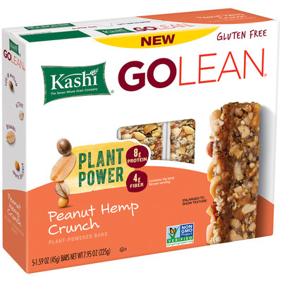 Kashi® GOLEAN® Peanut Hemp Crunch Plant-Powered Bars 5-1.59 oz. Bars