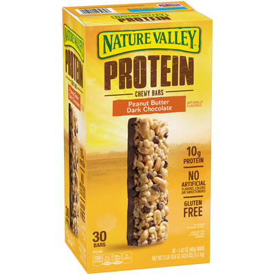 Nature Valley™ Peanut Butter Dark Chocolate Protein Chewy Bars 30 ct Box