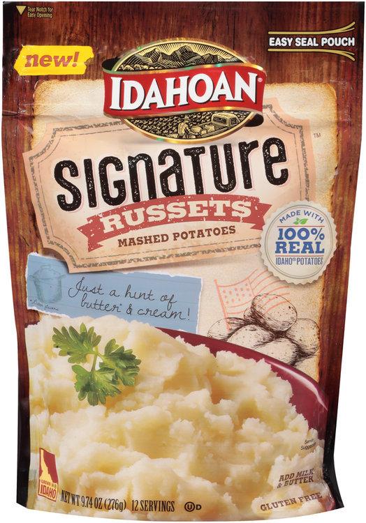 Idahoan® Signature™ Russets Mashed Potatoes Reviews on box of instant potatoes, instant red potatoes, idahoan instant potatoes coupons, idahoan instant potato cups, herbed potatoes, baked potato, lyonnaise potatoes, trader joe's roasted potatoes, duchess potatoes, idahoan baked potatoes, ore-ida frozen potatoes, bangers and mash, idahoan instant potatoes directions, printable coupons for idahoan potatoes, yukon gold potatoes, slow cooker breakfast potatoes, pumpkin pie, potato chip, butter herb potatoes, shepherd's pie, boxed potatoes, pecan pie, wada farms potatoes, apple sauce, idahoan instant potatoes nutrition, walmart instant potatoes, olivier salad, idahoan hash brown potatoes, pommes dauphine, potato scone, green bean casserole, potato salad, apple pie, potato bread, russet burbank, make your own instant potatoes, bag potatoes,