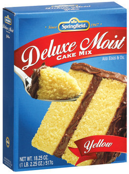 Springfield Deluxe Moist Yellow Cake Mix 18.25 Oz Box