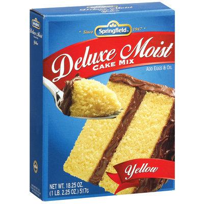 Springfield Deluxe Moist Yellow Cake Mix 18.25 Oz Box