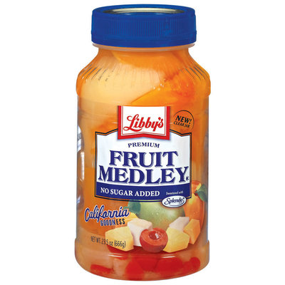 Libby's® Premium No Sugar Added Fruit Medley 23.5 Oz Plastic Jar