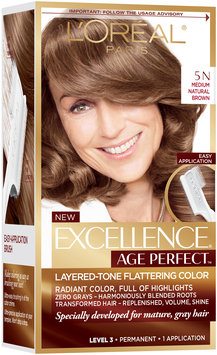 L'Oréal® Paris Excellence® Age Perfect™ Layered-Tone Flattering Color 5N Medium Natural Brown Hair Color Kit