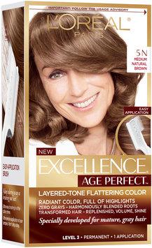 L'Oréal® Paris Excellence® Age Perfect™ Layered-Tone Flattering Color 5N Medium Natural Brown Hair Color Kit