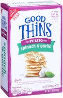 Good Thins Spinach & Garlic Potato Snacks