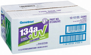 Genetron 134a+Uv For Mobile A/C Systems 12 Oz Non-Flammable Gas 12 Ct Cans