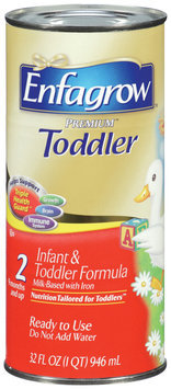 Enfagrow™ Premium ™ Toddler Infant & Toddler Formula Ready to Use 32 oz Can
